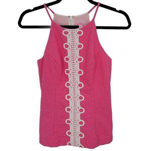 Lilly Pulitzer Hot Pink Sleeveless Shirt Tank